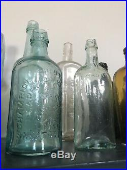 Early Bottle CHAMPION SPOUTING SPRINGS SARATOGA NY Mineral Water 1870s Minty
