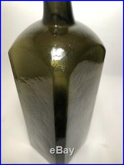 Early Pontiled Olive Green Black Glass Dr. Townsend's Sarsaparilla Albany, N. Y