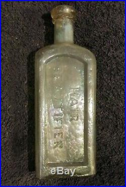 Early & Rare! Dr. Mitchell's Hair Beautifier Rochester N. Y, flint, pontil, dug