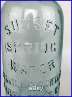 Early Sunset Spring Mineral Water Catskill Haines Falls NY Glass Bottle+Stopper