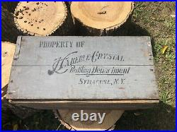 Early Vintage Haberle Crystal Bottle Box crate Syracuse NY Congress Beer Case