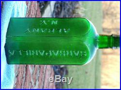 Emerald Green Bottle DR. TOWNSEND'S SARSAPIRILLA ALBANY N. Y. Nice