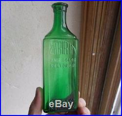 Emerald Green Cabiria Hair Color Restorer New York Hand Blown Rare Hair Bottle