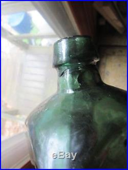 Emerald Green Dr. Townsend's Sarsaparilla super whittle, fine bottle New York #1