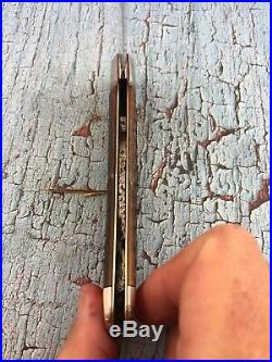 Excellent Plus 1920s New York Knife Company Jigged Bone Locking Coke Bottle