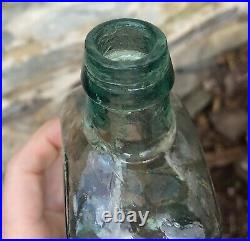 Exceptional example 1840s pontil LONGLEY'S PANACEA Comstock & Co NY bottle