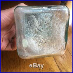 F. G. OTTO & SONS NEW YORK VINTAGE GLASS BATTERY JAR QUACK MEDICINE c. 1870