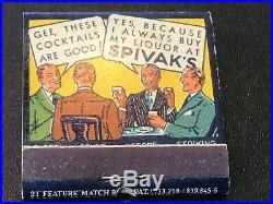 Feature Unused Matchbook Spivaks Liquor Store Flushing NY Amity Club Bottles