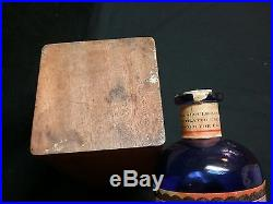French New York antique extracts elixir alcohol wine spirits vintage bottle box
