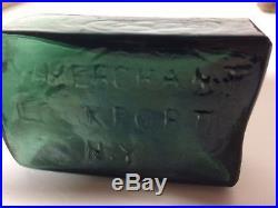 G. W. Merchant Lock Port N. Y. 1840 to 1872 Dark Green Bottle