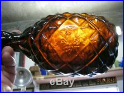 GREAT COLORROOT BEER AMBER1860'S W & Co. BLOWPIPE PONTILED PINEAPPLE BITTERS. NY