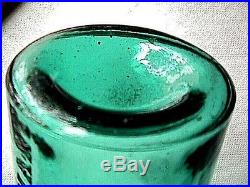 GW Merchant Chemist Lockport NY Round Teal Collectible Antique Medicine Bottle