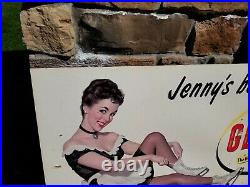 Genesee Beer Sign Jenny Rochester NY Brewery Can Bottle Tray Advertising