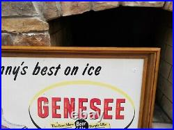 Genesee Beer Sign Jenny Vintage Rochester NY Brewery Advertising Can Bottle