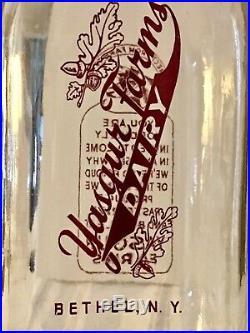 Genuine 1966 Yasgur Farms Bethel NY Dairy Milk Bottle Woodstock Music Festival