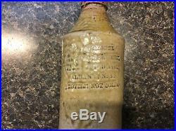 Geo Webers Bier Brewery Albany N. Y. Beer Stoneware 1858-1877 Salt Glaze Bottle