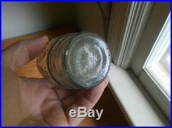 Giessen's Union Mustard Ny Eagle Shield Emb Barrel Figural Bottle CIVIL War Era