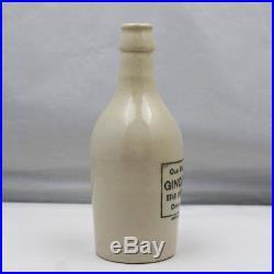Ginger Beer Bottle Star Bottling Works Ogdensburg, NY Stoneware Stone Antique