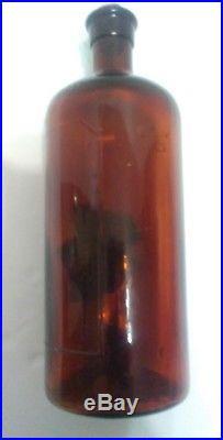 Glyco-Heroin Smith Amber Martin H. Chemists New York Medicine Drug Bottle Opiate
