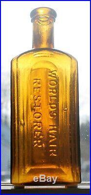 Gorgeous Golden Yellow Mrs S. A. Allen's World's Hair Restorer New York Mint Mint