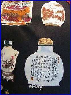 Grace Chuang New York Asian Silk Snuff Bottles Reversible Mandarin Jacket Sz M