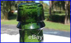 Green 1800's Antique Congress & Empire Saratoga Ny Water / Bitters Bottle! Nice