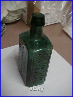 Green 1800's Merchant's Chemist Lockport New York Medicine Bottle