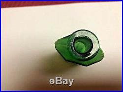 Green Irregular Hexagon Poison Bottle, Hetherington, 42nd St, N Y, Rare