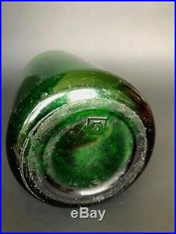 Green Seltzer Bottle VINTAGE Glass Bottle Excelsoir Victoria Bottling New York