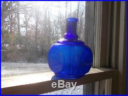HAYWARD'S HAND FIRE GRENADE NY COBALT 1880s HAND BLOWN GLASS FIRE EXTINGUISHER