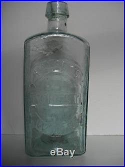 Halseys Forest Wine Iron Pontil Medicine Cure Bottle New York