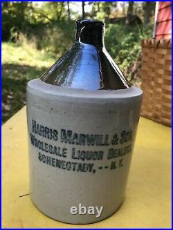 Harris Marwill, Schenectady, NY Stoneware advertising jug, circa 1900