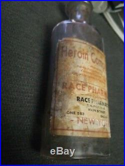 Heroin Compound Antique Medical Bottle Bayshore New York