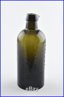 Hohenthal Brothers & Co Stoddard, NH Indelibe Writing Ink NY Glass Ink Bottle