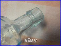 Iron Pontil Rectangular Medicine Bottle Hutching's Dyspepsia Bitters New York NY