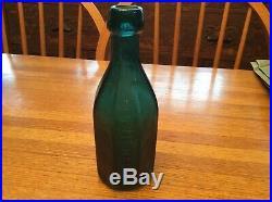 Iron pontil New York bottle embossed H Knebels Mineral Water 458 4th St. N. Y