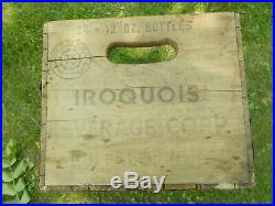Iroquois Beer Buffalo New York Pre Prohibition Wood Beer Crate 24,12oz bottles