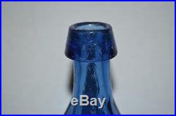 J. BOARDMAN & Co. NEW YORK MINERAL WATER Bottle, Cobalt, IP, 8-SIDED