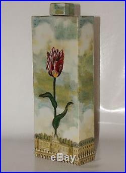 John Derian New York Palace Royal Art Studio Flower BOTTLE XXL vers 1980