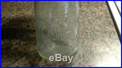 John Grassberger Bellport DAIRY MILK BOTTLE Clear Glass Long Island NY Embossed