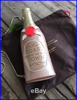 Kate Spade New York Champagne Bottle Rose Pink Clutch, Nwt, $378