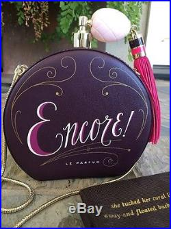Kate Spade New York On Pointe Encore Perfume Bottle Leather Clutch Bag, Nwt