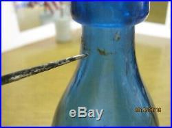 Killer Cobalt Blue Pontiled C. Cleminshaw Soda & Mineral Watertroy N. Y