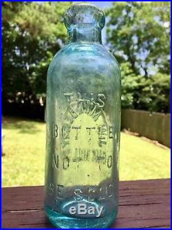 LISTED RARE J. W. Mulberry Oak Hill, NY Hutchinson Hutch Blob Top Bottle