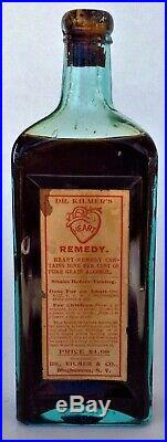 Labeled Dr. Kilmers Heart Remedy Binghamton NY With Contents Attic MINT