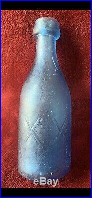 Lancaster X Glass Works XX N. Y. Blue Frost Extremly Rare