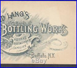 Langs Beer Bottling Works Buffalo NY Brewery Victorian Flower Fairy Trade Card