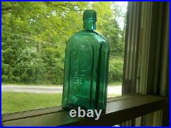 Large Size 7 1/4pretty Teal Gargling Oil Lockport, Ny Applied Lip Med Bottle