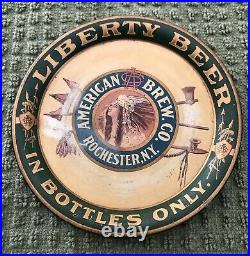Liberty Beer Tip Tray American Brew Co Rochester Ny Indian Head In Bottles Only