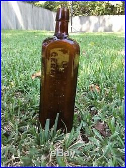 Lippmans Great German Bitters Bottle, New York And Savannah Geo